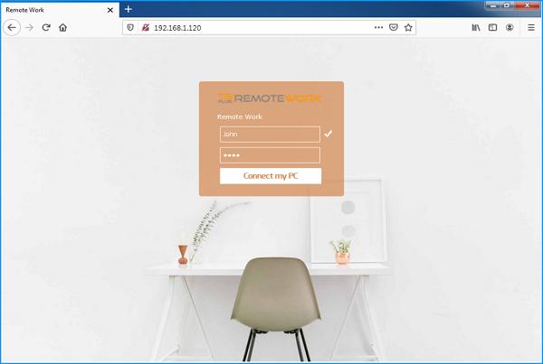Portal web TSplus Remote Work